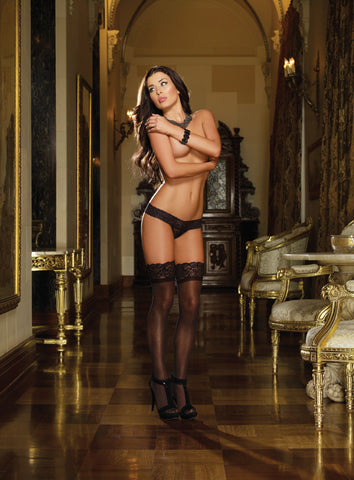 DG 0002 Sheer Lace Top Stocking
