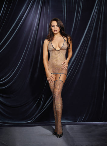Bodystocking DG 0284 Metallic Diamond-net
