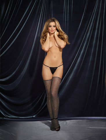 DG 0285 Metallic Fishnet Stockings