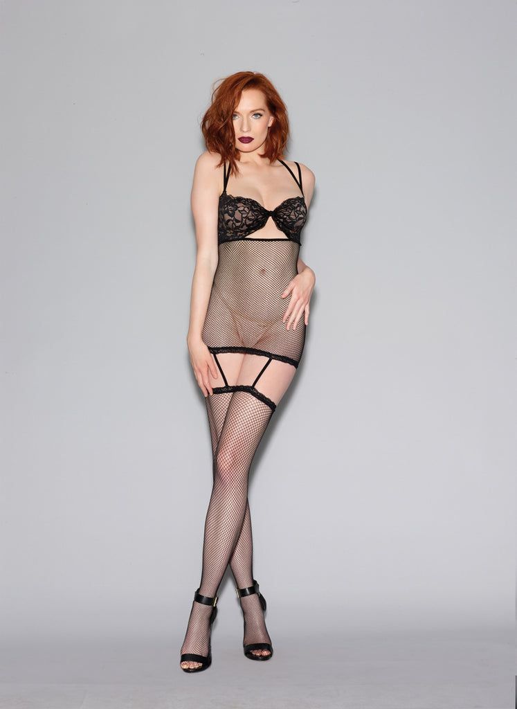 Bodystocking DG 0289 Fishnet Garter Dress