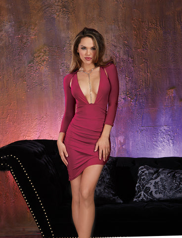 DG 10455 Night Out Dress with Plunging Neckline