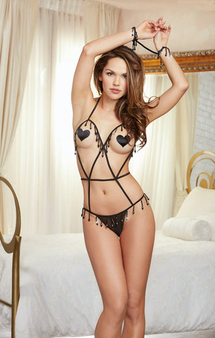 DG RD 10475 Open-Cup Strappy Teddy