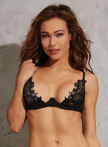 DG 10495 Embroidered Open-Cup Shelf Bra