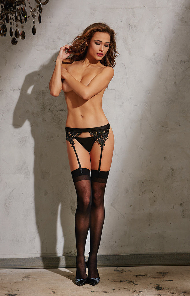 DG 10496 Embroidered Garter Belt
