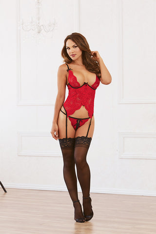 DG RD 10561 Galloon Lace Bustier