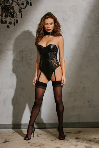 DG 10600 Faux-leather Look Teddy