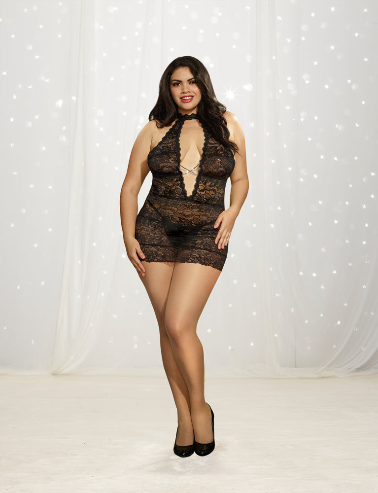 DG RD 10964X Galloon Lace Chemise