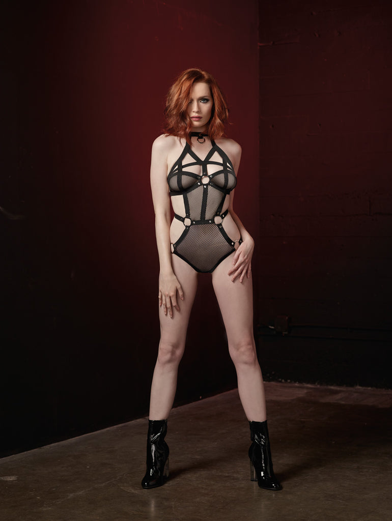 DG RD 11053 Fishnet Teddy