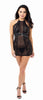 DG RD 11245 Mesh HIgh Neck Halter Chemise