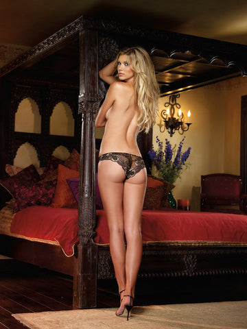 DG 1380 Dreamgirl Cheeky Panty Black/Gold