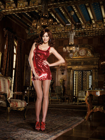 DG 7889 Sequin Doll Red