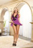 DG RD 9732 Halter Babydoll in Lipstick Red or Orchid