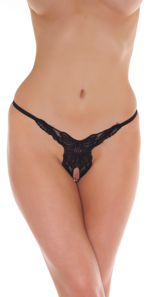 RIM 1277 Black Crotchless G-String