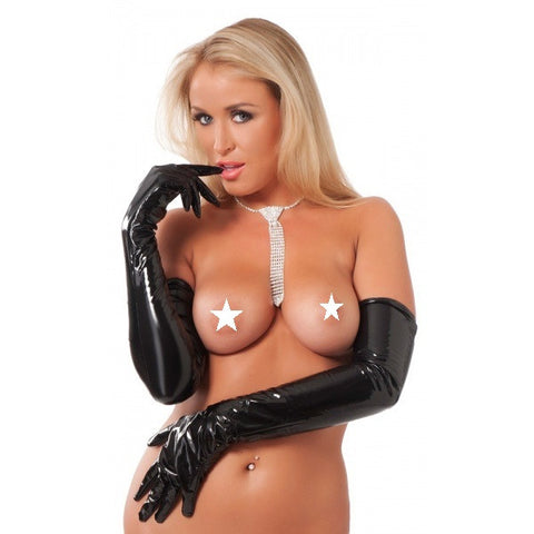 RIM 1620 Black PVC Patent Gloves