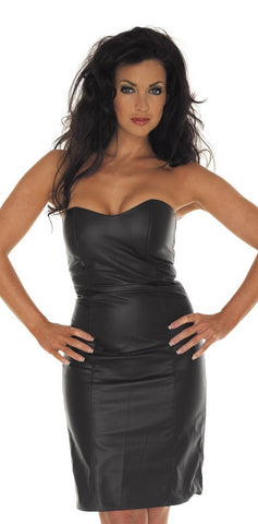RIM 7233 Leather Strapless Dress