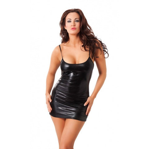 Rimba Amorable Sexy Wet Look Mini Dress RIM 1867