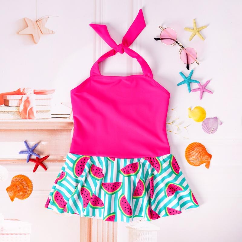 One in a Melon Skirted Swimsuit - KoKo Bean
