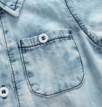 Load image into Gallery viewer, Cool Denim Onesie - KoKo Bean