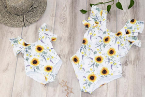 Mommy and Me Sunflower Swimsuit (GIRLS AND BOYS) - KoKo Bean