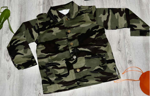 The Happy Smile Camo Crew Top - KoKo Bean