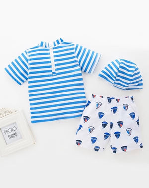 Sailor Set (3 piece swim set) - KoKo Bean