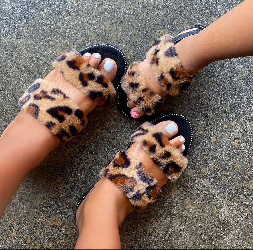 Mommy and Me Leopard Slides - KoKo Bean
