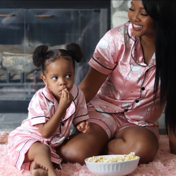 Mommy and Me Pink Bunny PJ Set - KoKo Bean