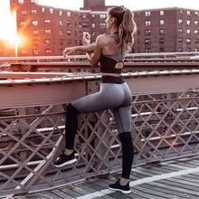 Cargar imagen en el visor de la galería, Casual Sporting Tracksuit Women 2 Piece Set Fitness Clothes Workout Sportswear For Female