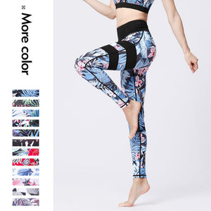 Women Yoga Pants Quick-drying Digital Print Ladies GYM Tight-fitting Sports Fitness Clothes Running Leggings Trousers