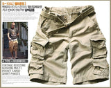 MISNIKI   Mens Shorts Casual Loose Knee-length Mens Cargo Shorts Within Belt S-3XL