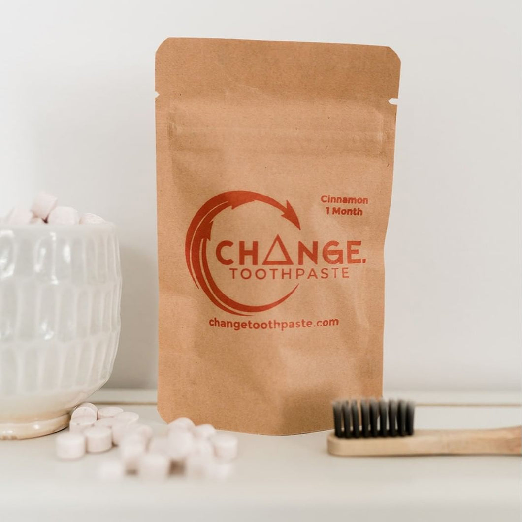 cinnamon change toothpaste 1 month supply