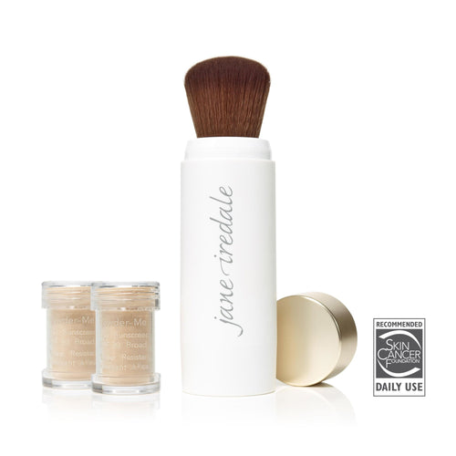 Jane Iredale POWDER ME SPF 30 DRY SUNSCREEN BRUSH AND POWDER POTS