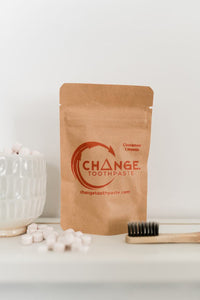 CHANGE TOOTHPASTE TABLETS - CINNAMON, IN BAG