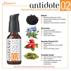 ANTIDOTE 02- HIGH PERFORMANCE NATURAL ANTI-AGING COMPLEX