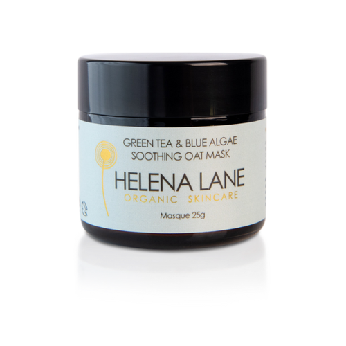 HELENA LANE GREEN TEA AND BLUE ALGAE SOOTHING OAT MASK 25G JAR