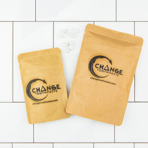 change toothpaste compostable packages in 1 month and 3 month