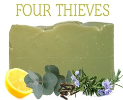 Beach baby bath and body four thieves soap