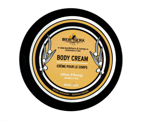 Bee by the sea body cream in citrus and honey - 220mL jar