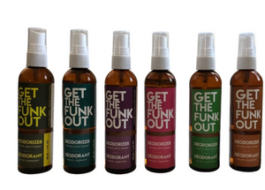 Get the Funk Out Deodorizer 4oz. bottles group photo
