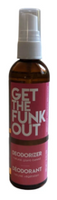 Load image into Gallery viewer, Get the Funk Out Deodorizer 4oz. bottle - bergamot geranium