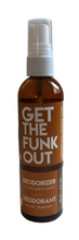 Load image into Gallery viewer, Get the Funk Out Deodorizer 4oz. bottle - cedarwood orange