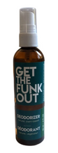 Load image into Gallery viewer, Get the Funk Out Deodorizer 4oz. bottle - eucalyptus mint