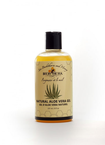 Bee by the sea natural aloe vera gel 237 mL bottle
