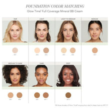 Load image into Gallery viewer, Jane Iredale Glow Time Full Coverage Mineral BB Cream COLOUR MATCHING CHART