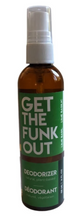 Load image into Gallery viewer, Get the Funk Out Deodorizer 4oz. bottle - lime basil
