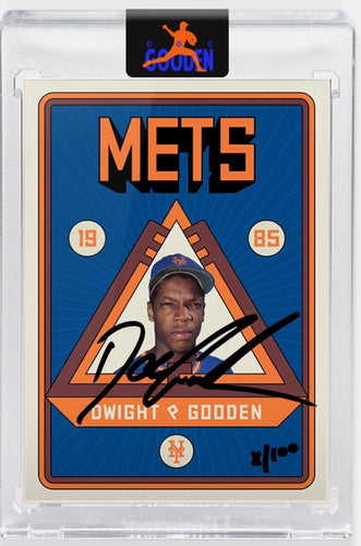 Topps PROJECT 2020 Card 106 by Grotesk signed by Doc Gooden