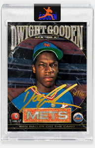 Topps PROJECT 2020 Card 86 by Ben Baller signed by Doc Gooden