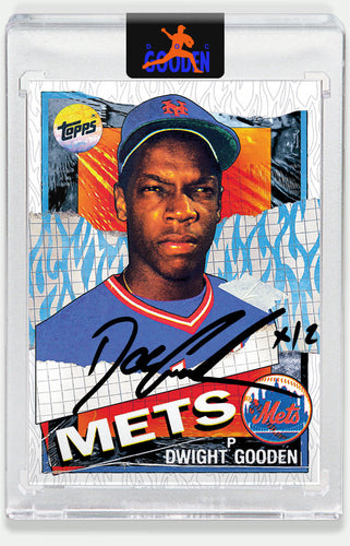 Topps PROJECT 2020 Card 12 by Tyson Beck signed by Doc Gooden