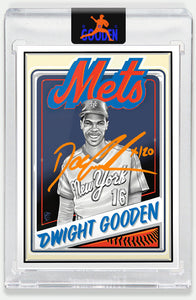 Topps PROJECT 2020 Card 65 by Mr. Cartoon signed by Doc Gooden