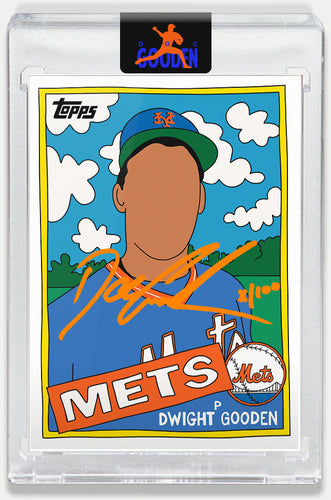 Topps PROJECT 2020 Card 119 by Fucci signed by Doc Gooden